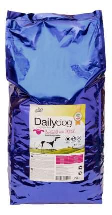 Сухой корм для собак Dailydog Adult Medium Breed, для средних пород, ягненок и рис, 20кг