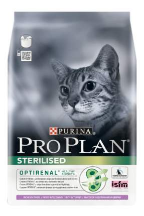 Сухой корм для кошек PRO PLAN Sterilised Optirenal, для стерилизованных, индейка, 1,5кг