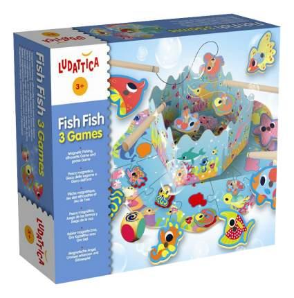 Настольная игра Ludattica Веселая рыбалка 3 в 1