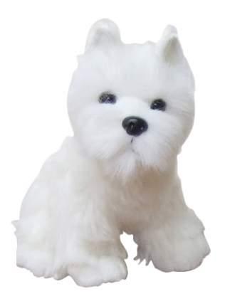 Мягкая игрушка SOYA Щенок породы белый терьер, 13x11x17 см