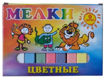 Набор мелков Пегас школьные цветные 9 шт