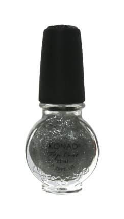 Закрепитель лака для ногтей KONAD Top Coat Glitter Silver 11 мл