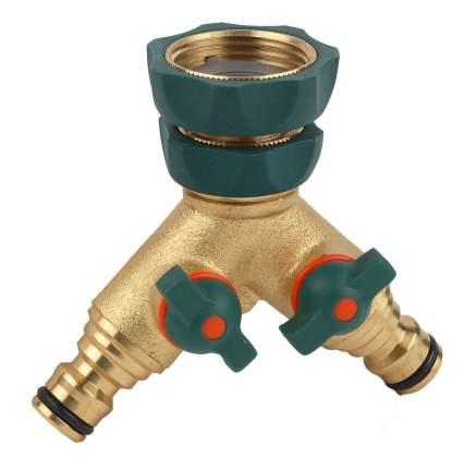 """Разветвитель для полива на 2 канала Raco profi-Plus 4244-55133B 1""""-3/4"""""""