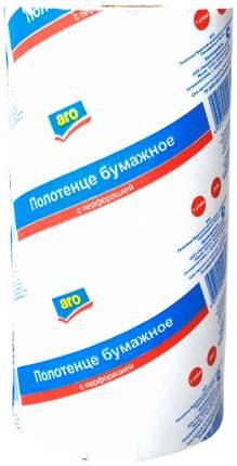 Бумажные полотенца Aro однослойные с перфорацией 19.5*25 см 1 штука