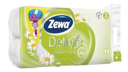 Туалетная бумага Zewa Deluxe 3-ех слойная Ромашка-Лаванда 8 шт.