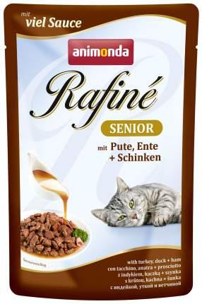 Влажный корм для кошек Animonda Rafine Senior, индейка, утка и ветчина, 100г