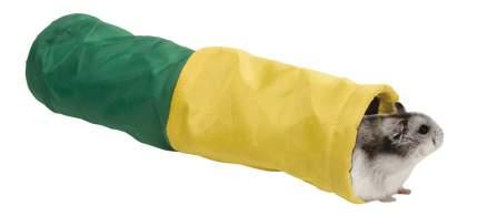 Тоннель для грызунов Ferplast полиэстр, текстиль, 6.5х25 см, цвет зеленый, желтый