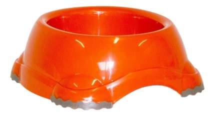 Одинарная миска для кошек и собак MODERNA, пластик, оранжевый, 2.2 л