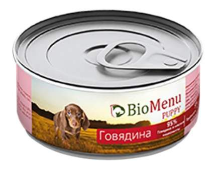 Консервы для щенков BioMenu Puppy, говядина, 100г