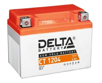 Аккумулятор автомобильный Delta CT 1204 4 Ач