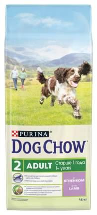 Корм для собак Dog Chow , ягненок, 1шт, 14кг