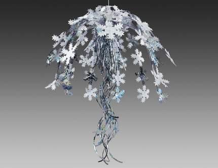 Holiday Classics Фонтан из фольги Снежинки 60 см белый с голографическим серебром T1012WLS