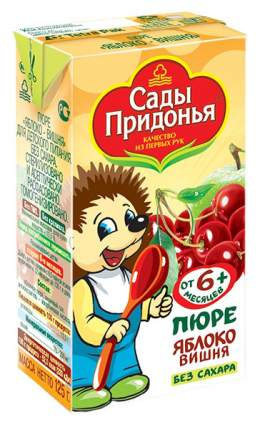 Пюре фруктовое Сады Придонья Яблоко, вишня с 6 мес. 125 г