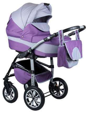 Коляска 3 в 1 Alis berta F Be 06 Фиолетовый, светло-серый