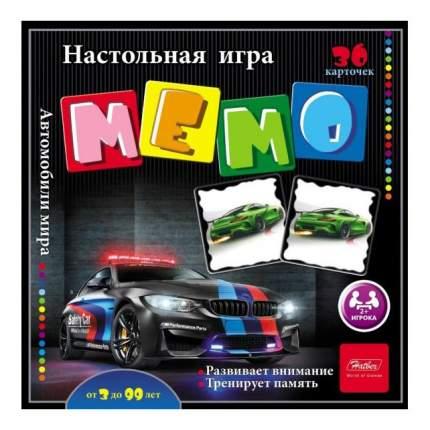 Семейная настольная игра Hatber Мемо 36 карточек Автомобили мира 36ИнМ_16890