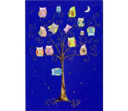 Открытка Turnowsky Совы на дереве ночью MO5833B