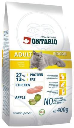 Сухой корм для кошек Ontario Adult Indoor, для домашних, цыпленок, 0,4кг