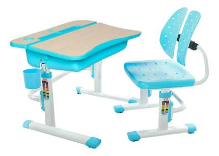Комплект детской мебели Mealux Парта и стул EVO-03 голубой