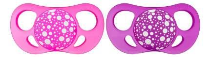 Пустышка силиконовая 0-6 мес розово-фиолетовая 2 шт. Twistshake