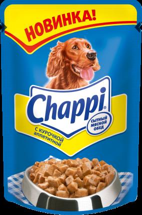 Влажный корм для собак Chappi, курочка аппетитная, 100г