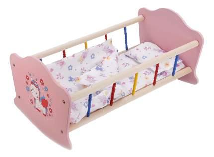 Кроватка для кукол Милый пони деревянная Карапуз RB-P-P