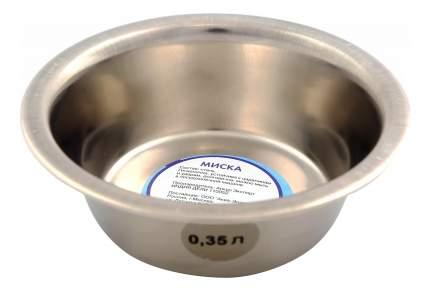 Одинарная миска для собак Аква Энимал, сталь, серебристый, 0,75 л
