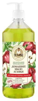 Жидкое мыло Рецепты бабушки Агафьи Мятно-яблочное антибактериальное 1 л
