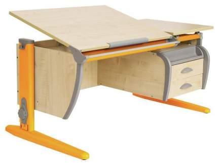 Парта Дэми СУТ 17-05Д с задней, двухъярусной задней и боковой приставками Оранжевый 120 см