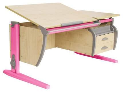 Парта Дэми СУТ 17-04Д2 с двумя задними двухъярусными приставками Розовый 120 см