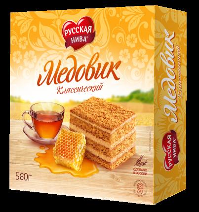 Торт Русская Нива медовик классический 420 г