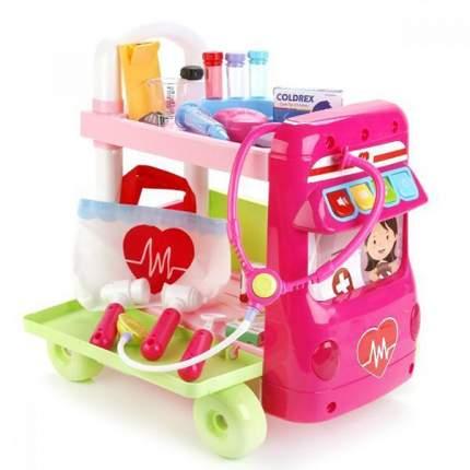 Наша Игрушка Автобус Наша Игрушка Автобус доктора розовый W064