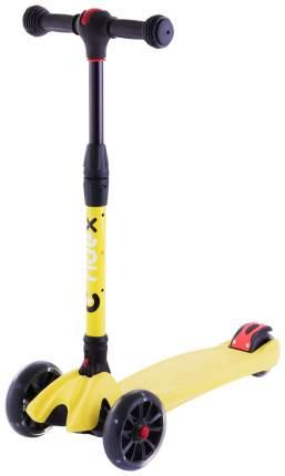 Самокат трехколесный Ridex Stark 3D детский Желтый складной со светящимися колесами