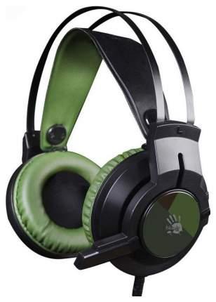 Игровые наушники A4Tech Bloody J450 Green/Black