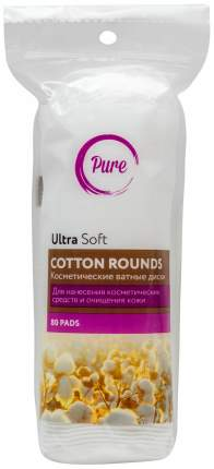 Ватные диски Pure Ultra Soft Cotton Rounds 80 шт