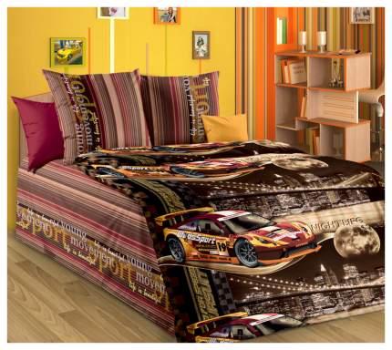 Комплект Детского постельного белья Неон коричневый 1,5 спальный