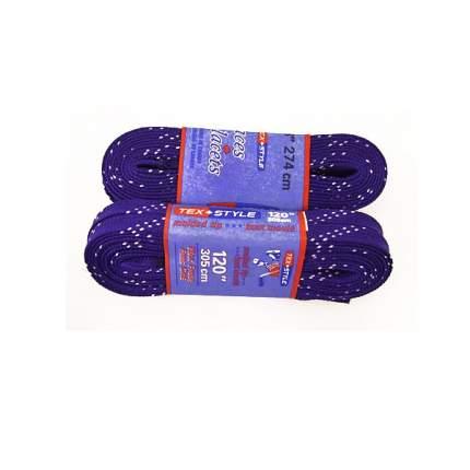 Шнурки для коньков Tex Style W923 фиолетовые, 2,74 м