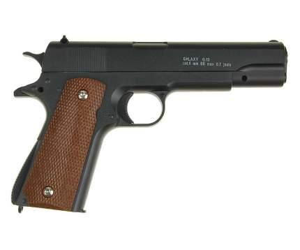 Страйкбольный пружинный пистолет Galaxy  Китай (кал. 6 мм) G.13 (Кольт 1911 черный)