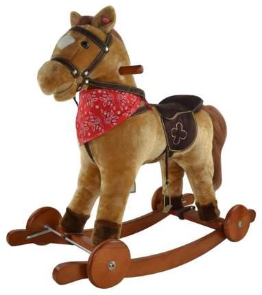 """Качалка-лошадка """"Pituso fandango"""", с колесами, светло-коричневый"""