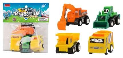 Машинки инерционные Junfa toys Мегамоторы набор 4 штуки 121935-TN