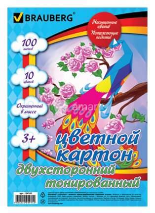 Цветной картон Brauberg 124745 А4, 10 цветов...