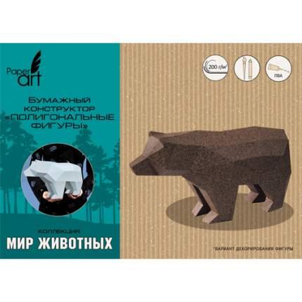 Полигональная фигура Paper Art Медведь, ИПФ01