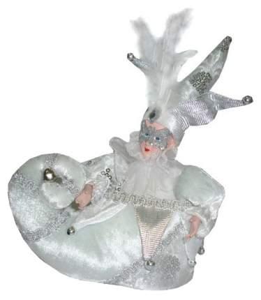 Елочное украшение Winter Wings Шут в сапожке 25 см, серебро