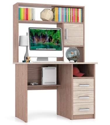 Стол компьютерный Мебельный Двор СК-9 ясень шимо светлый/тёмный 102х70х160 см
