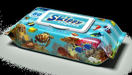 Влажные салфетки детские Skippy Aqua 80 шт