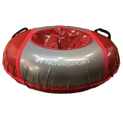 Тюбинг NovaSport 125 см усиленный без камеры СН050.125 красный/красный серый