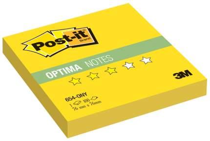 Блок самоклеящийся Post-it Optima 654-ONY Желтый 100 шт