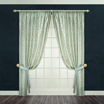 Классические шторы DAILY by T Монтана Цвет: Зеленый, высота 260 см