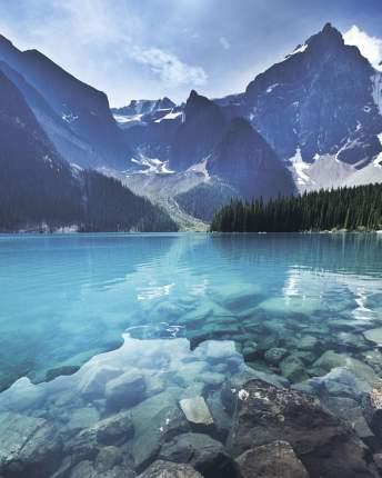 Картина на стекле 40x50 см. Озеро и горы Ekoramka SE-102-132
