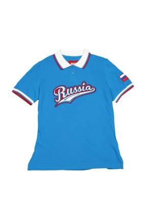 Поло женское BOSCO 06KP25 голубое L