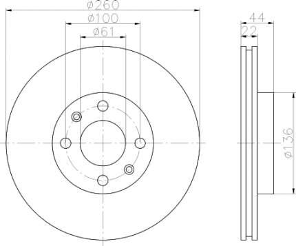 Тормозной диск HELLA PAGID 8DD355109331
